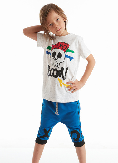 Mushi Xo Boom Erkek Çocuk Kapri Takım Lacivert